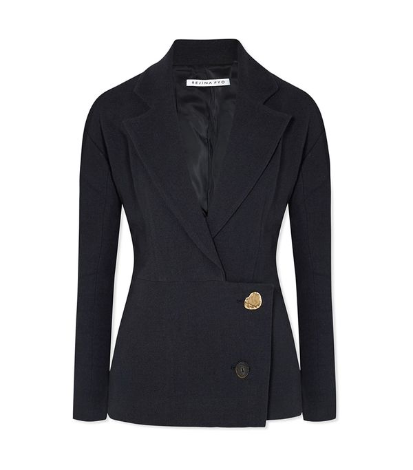 Ali Linen And Cotton-blend Blazer