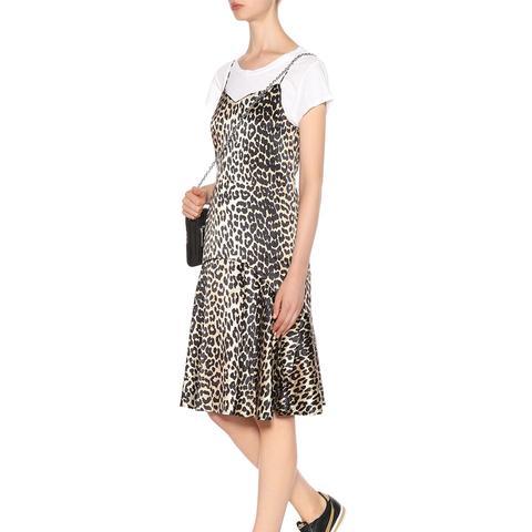 Dufort Leopard-Printed Silk Slip Dress