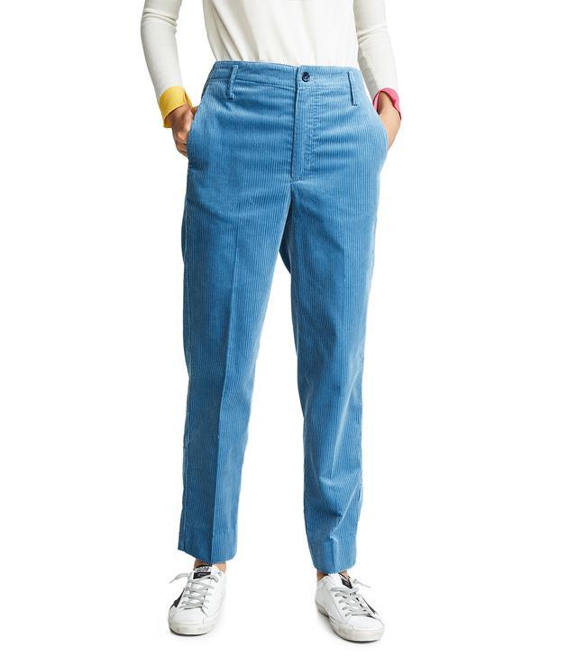 Golden Corduroy Chino Pants