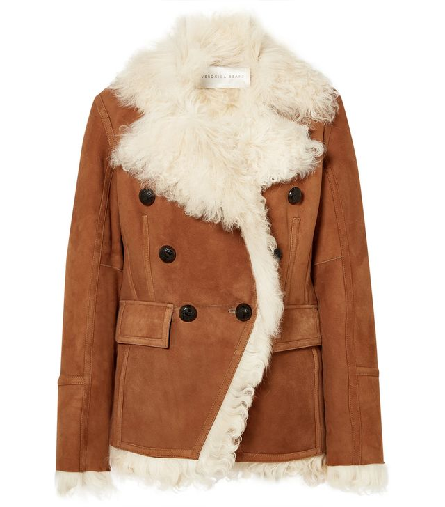 Huntley Shearling And Suede Double-breasted Blazer