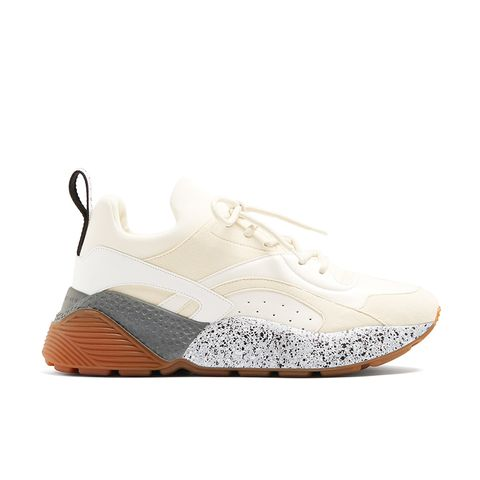 Eclipse Chunky-Sole Faux-Leather Trainers