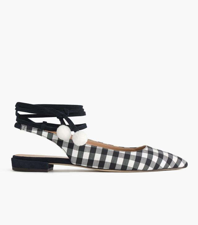 J.Crew Lily Ankle-Wrap Flats