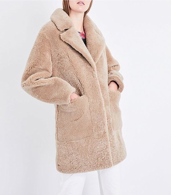 Frankie Shop Reverse Shearling Coat