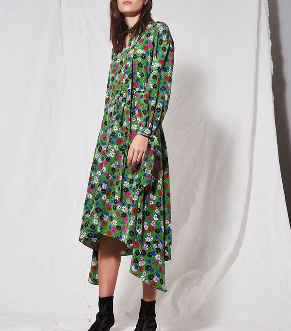 *Floral Asymmetric Dress by Boutique