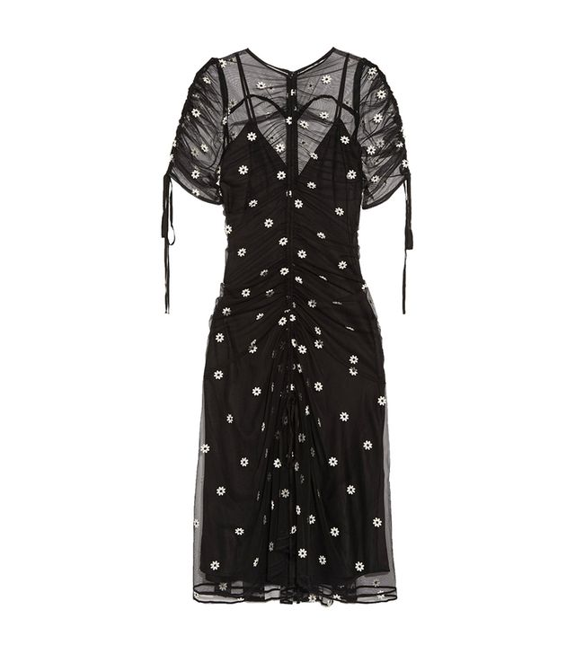 Garden Party Embroidered Tulle Midi Dress