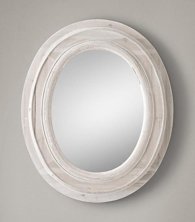 Restoration Hardware Salvaged Mansard Oval Mirror