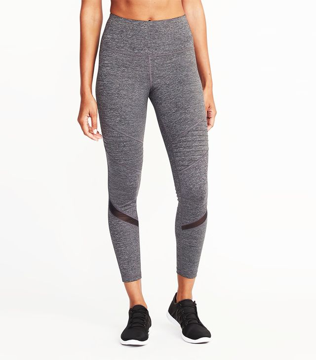 Old Navy High-Rise 7/8-Length Moto Compression Leggings
