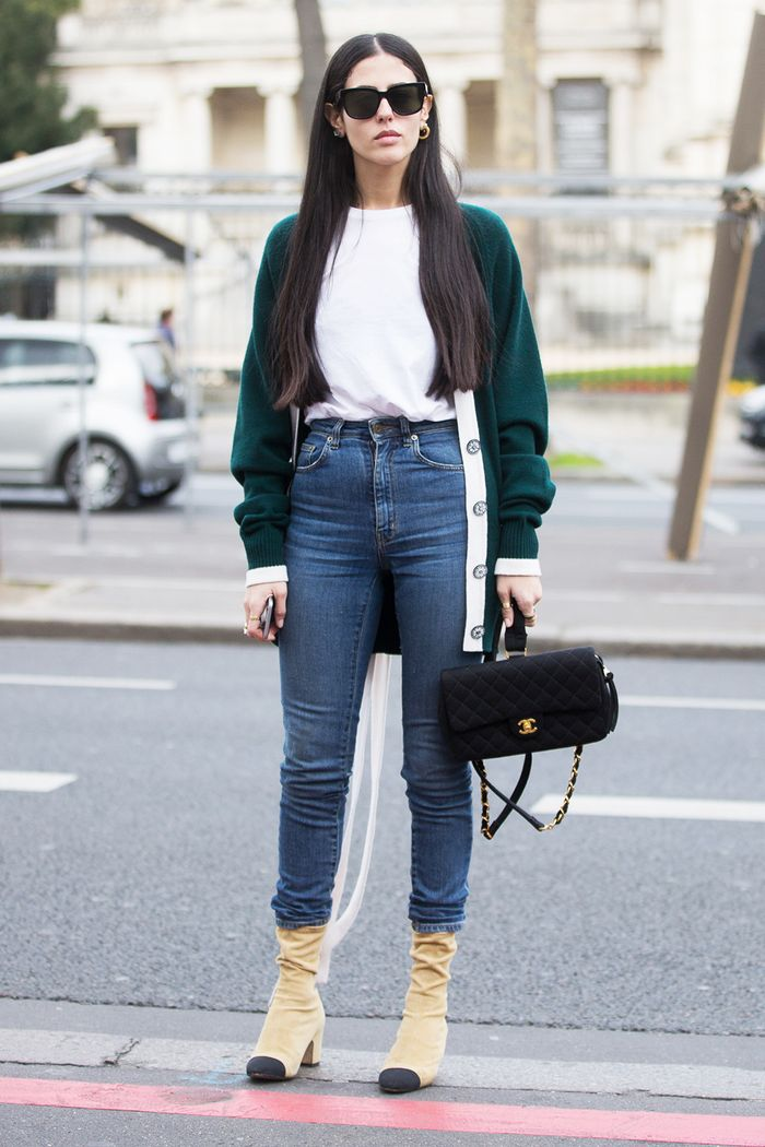 how to wear long jeans