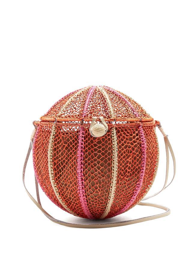 Sophie Anderson Meylin Woven Grass Cross-Body Bag