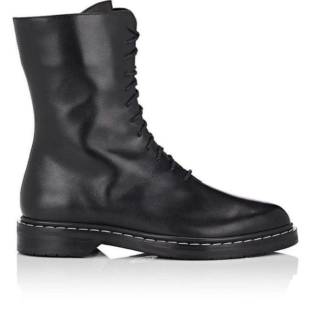 Women's Fara Leather Combat Boots