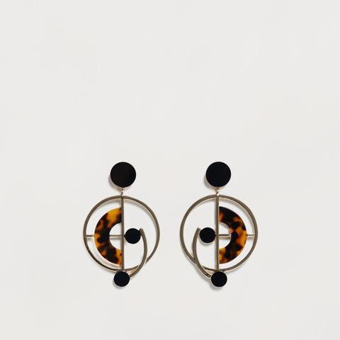 Hoop Pendant Earrings