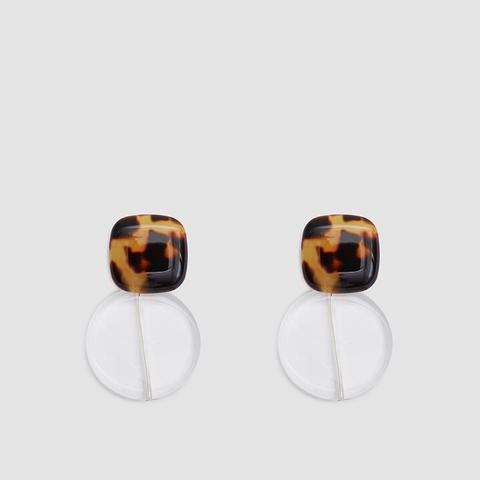 Arc Earrings in Tortoise Clear