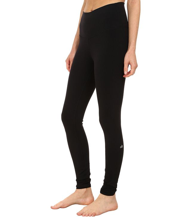 Alo High Waist Airbrushed Leggings in Black