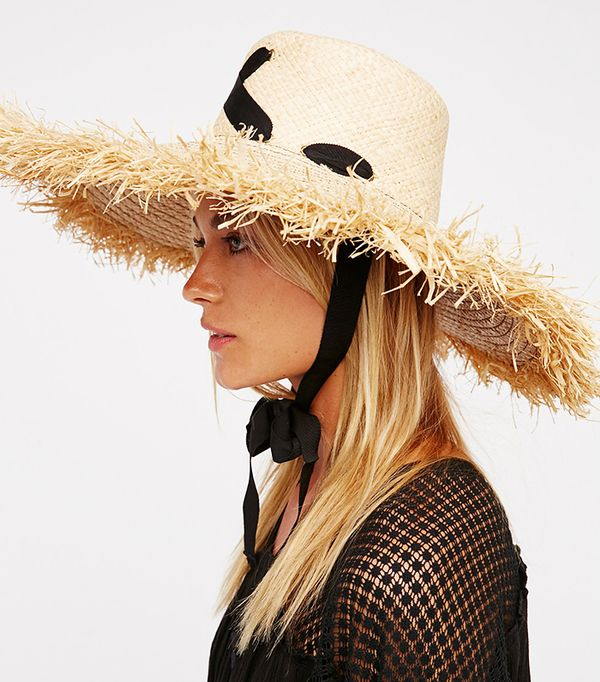 Cross My Heart Straw Hat by Lola Hats For FP at Free People