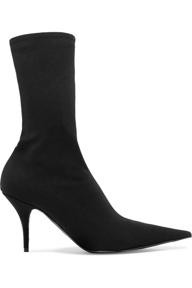 Blade Stretch-satin Sock Boots