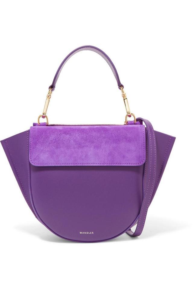 Wandler Hortensia Mini Leather And Suede Shoulder Bag