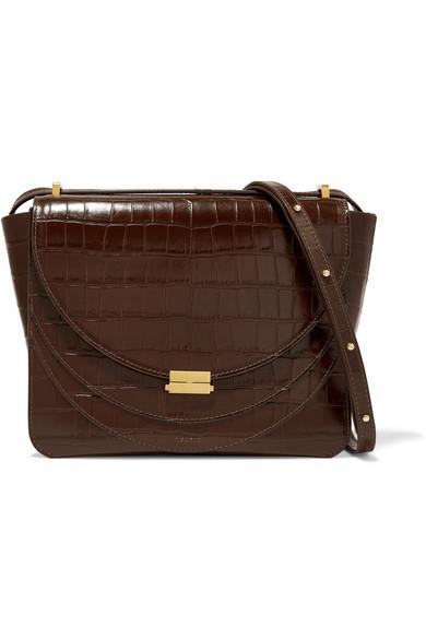 Wandler Luna Croc-Effect Leather Shoulder Bag