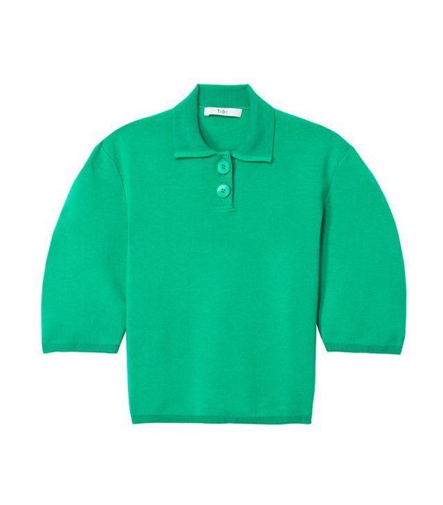Sculpted Wool Polo