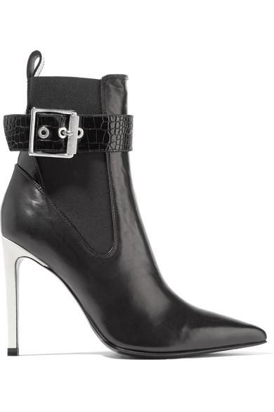 Wren Buckled Leather Ankle Boots