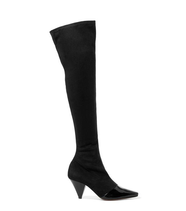 Bumble Suede And Patent-leather Over-the-knee Boots