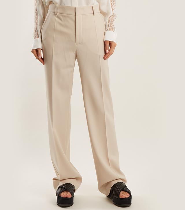 Joseph Ferdy Wide-Leg Wool-Blend Trousers