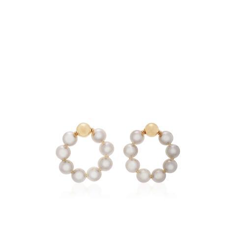 OG Large Gold-Filled Pearl Earrings