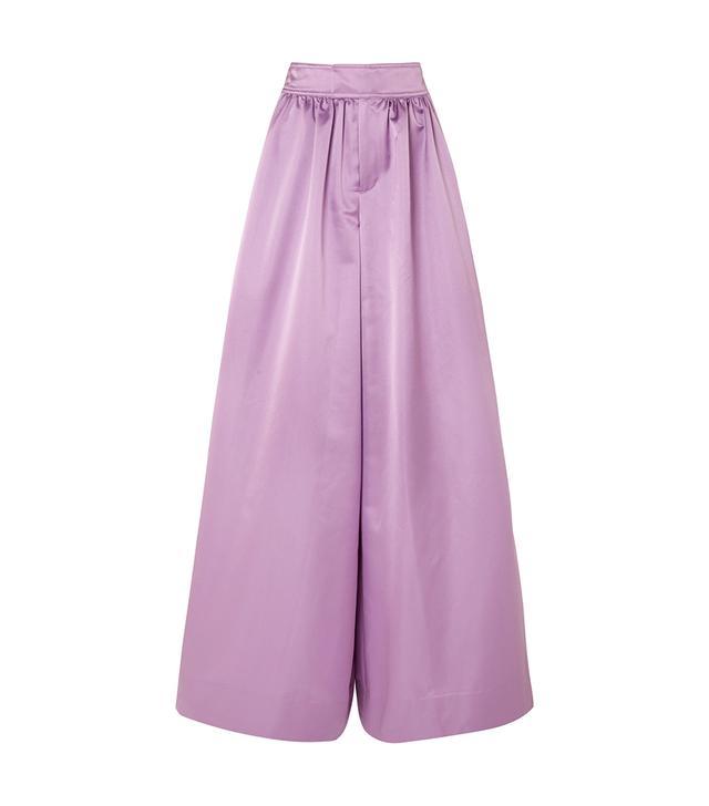 Kent Duchesse-satin Wide-leg Pants