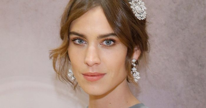 Alexa Chung S Crystal Embellished Hair Slides Who What