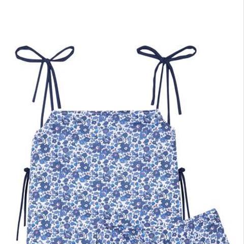 Brigette Floral-Print Cotton-Poplin Pajama Set