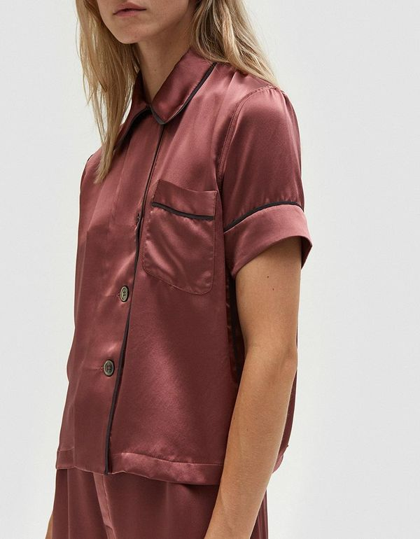 Araks Shelby Pajama Top in Red