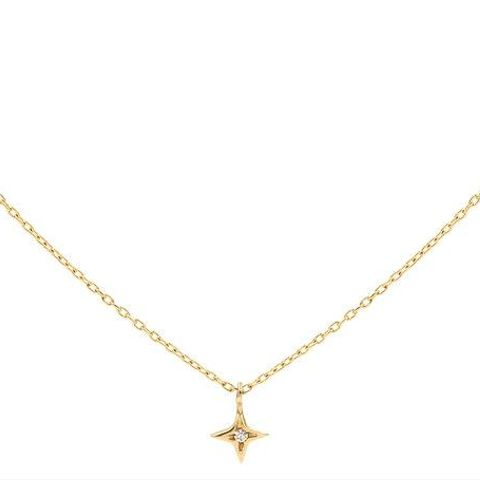 Little Gold Star Charm Necklace