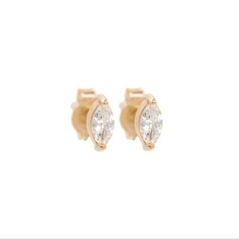 Tiny Marquise Stud Earrings