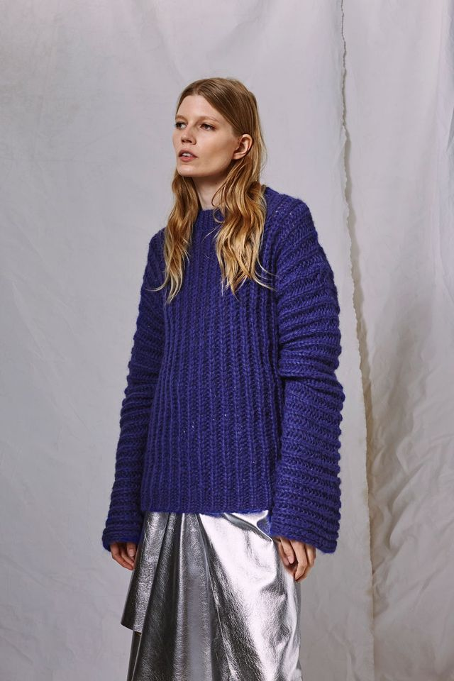 Extreme Long Sleeve Knitted Jumper by Boutique