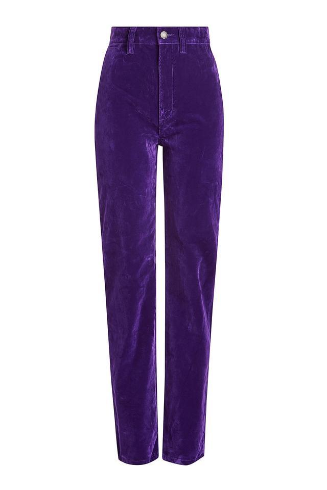 High Rise Velvet Disco Jeans