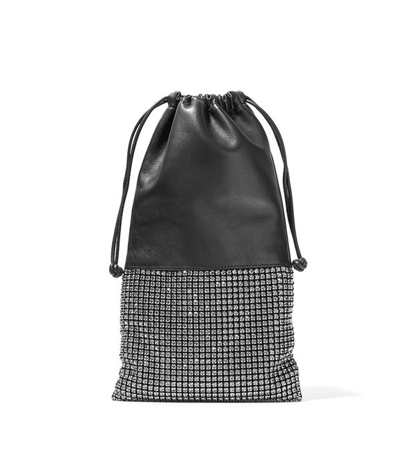 Ryan Crystal-embellished Leather Pouch