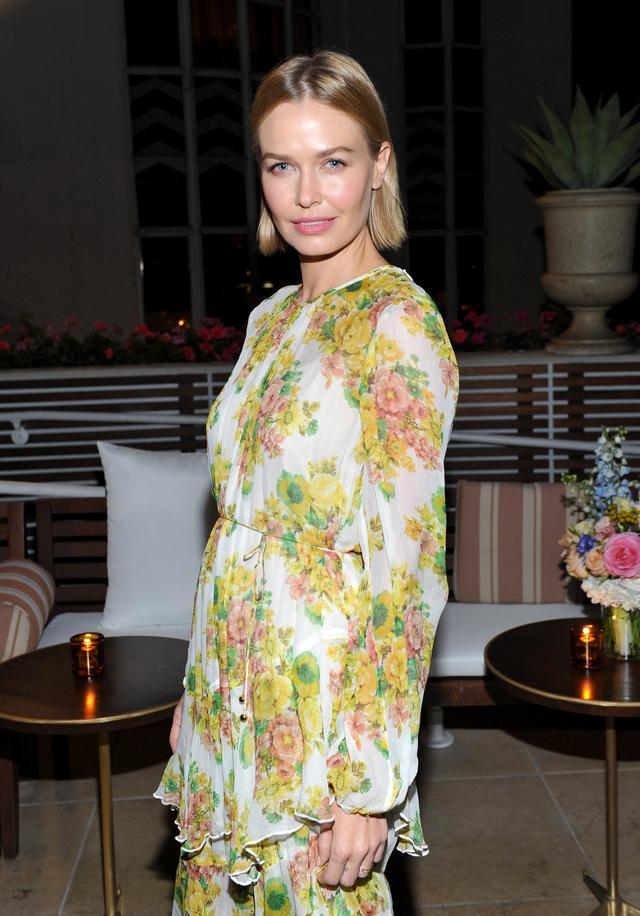 Lara Worthington wearing Zimmermann Floral Dress