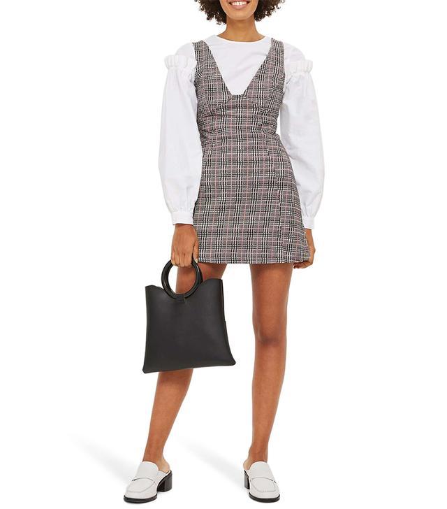 Plaid A-Line Pinafore Dress