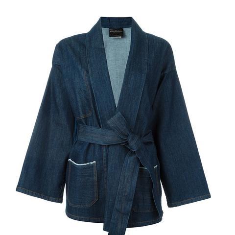 Gagan Kimono Wrap Denim Jacket