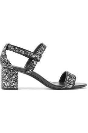 Aurele Glittered Leather Sandals
