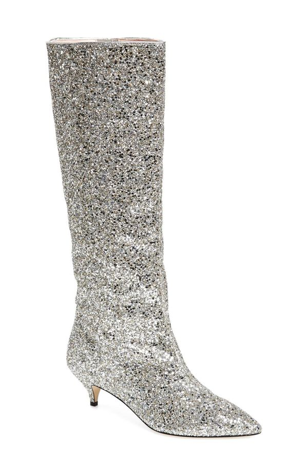 Women's Kate Spade New York Olina Glitter Knee High Boot