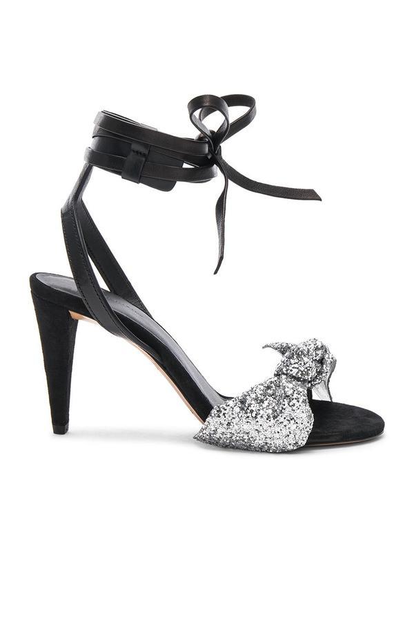 ISABEL MARANT  Glitter Akynn Ankle Strap Sandals