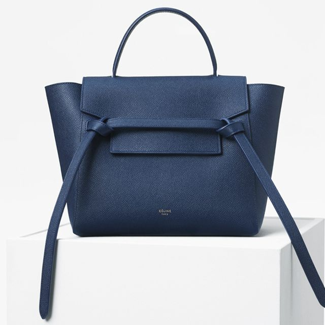 Céline Micro Belt Bag in Grained Calfskin