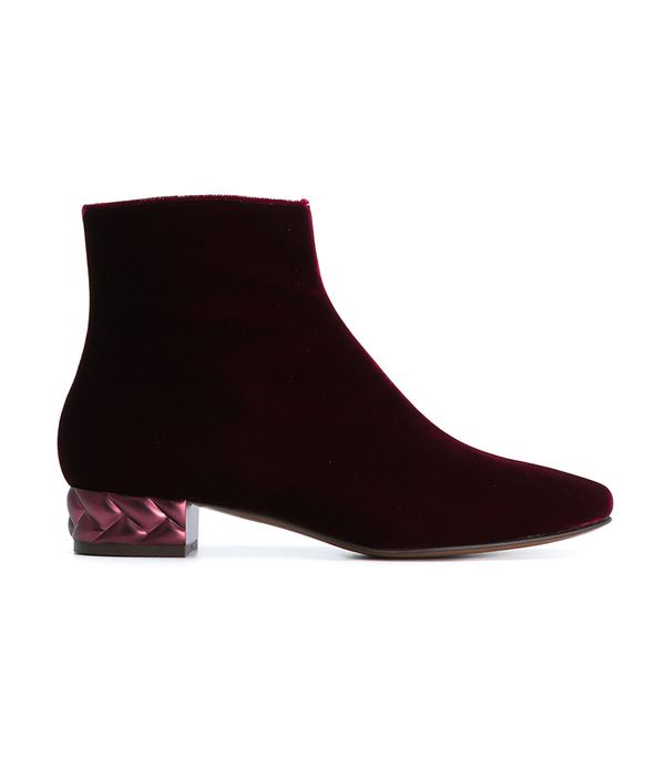 L'Autre Chose Textured Heel Ankle Boot