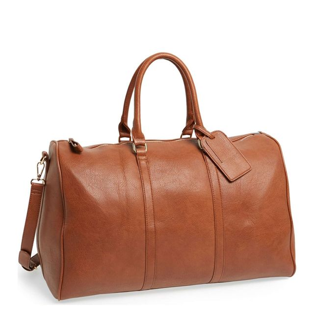 'Lacie' Faux Leather Duffel Bag -