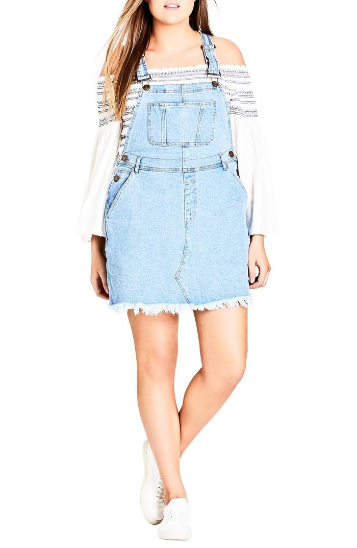 How To Pull Off An Overall Dress Who What Wear