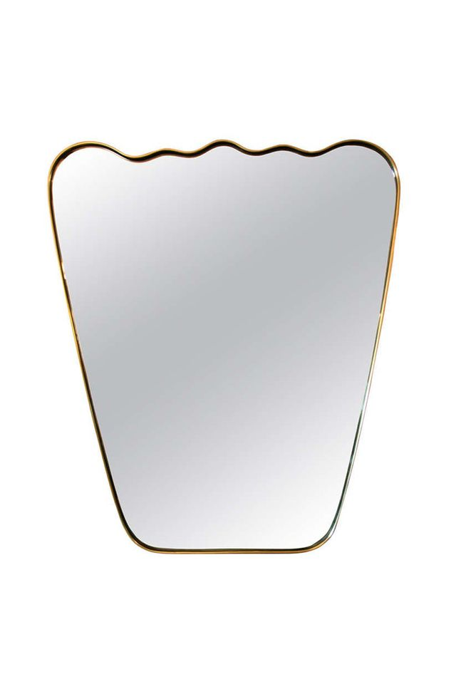 Adesso Eclectic Imports Italian Wavy Brass Mirror