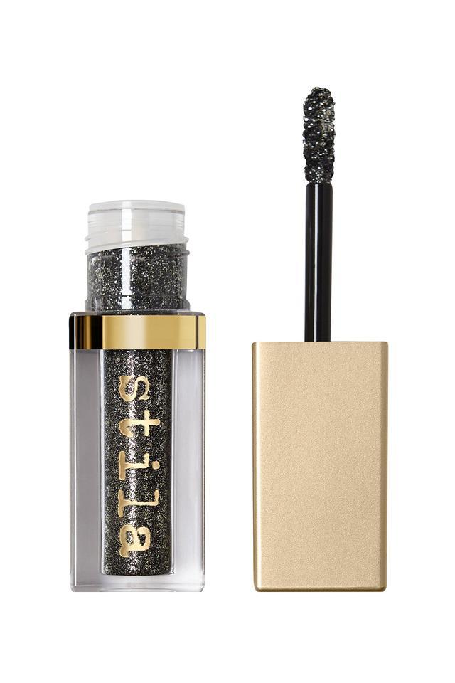 Stila Magnificent Metals Glitter and Glow Liquid Eyeshadow in Molten Midnight