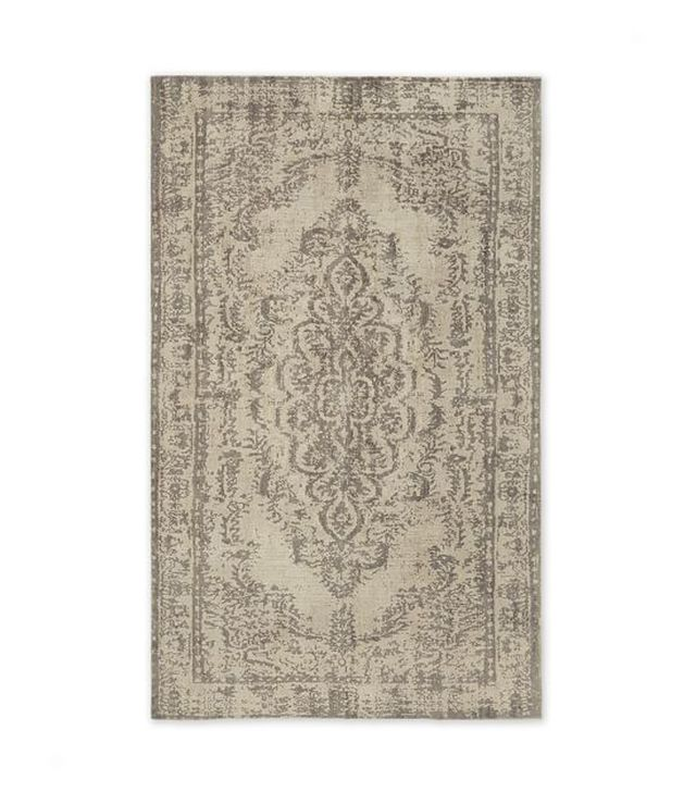 Distressed Arabesque Wool Rug