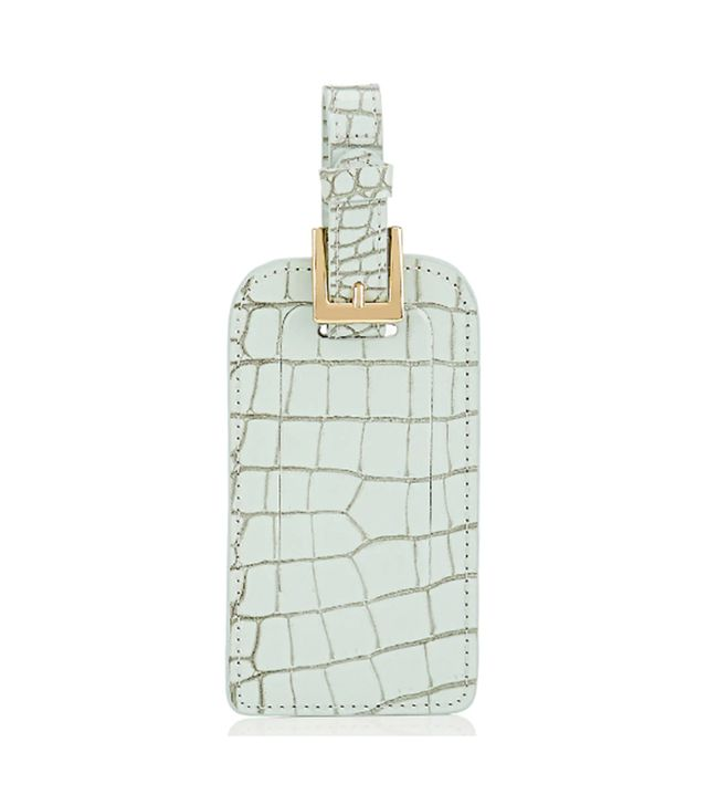 Barneys New York Crocodile-Embossed Leather Luggage Tag