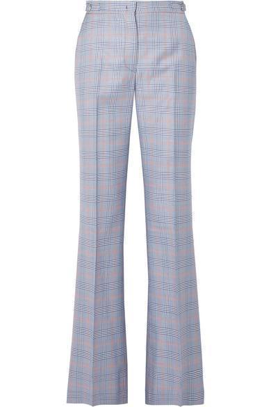 Gabriela Hearst Vesta Checked Wool and Silk-Blend Straight-Leg Pants